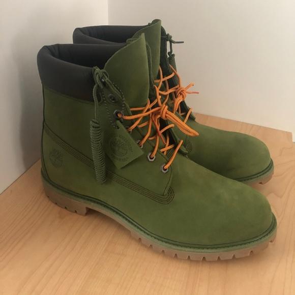 Timberland Icon 6 In Premium Boot Buttermilk Green Nubuck